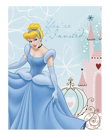 Cinderella Dreamland Party Invitations