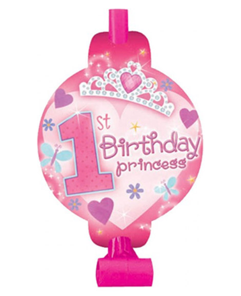 1st Birthday Princess Party Favor Blowouts
