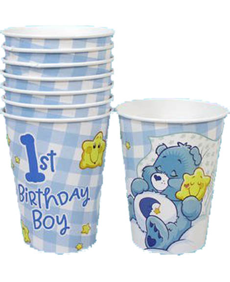 Care Bears Boys 1st Birthday 9 oz Paper Cups