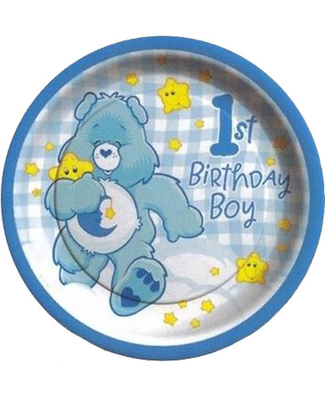 Care Bears Boys 1st Birthday Dessert Plates