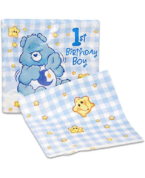 Care Bears Boys 1st Birthday Beverage Napkins