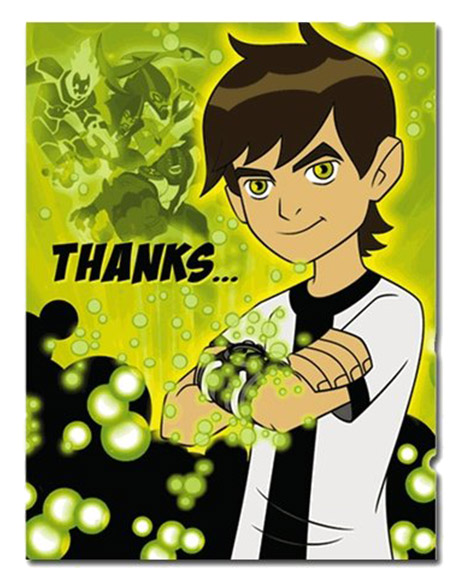 Ben 10 Party Thank You Cards