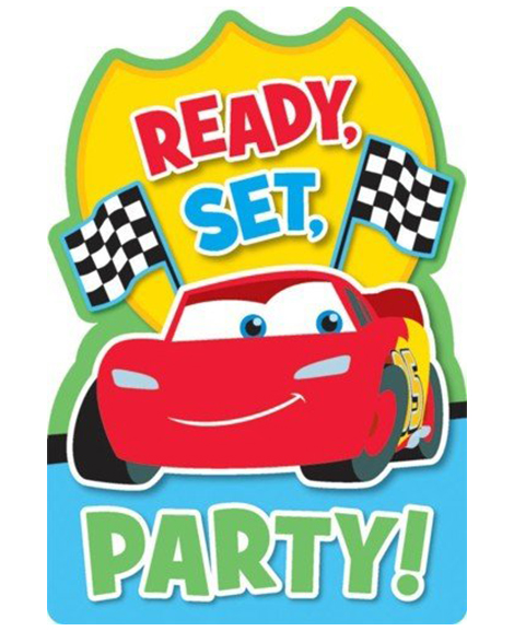 Disney Cars 1st Birthday Save The Date Party Invitations Party