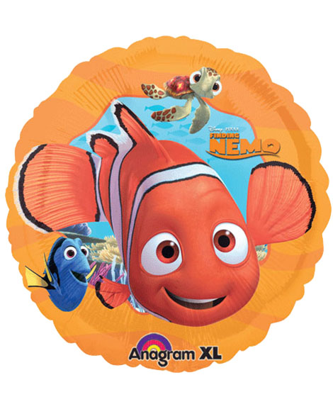 Finding Nemo Orange 18 Inch Round Foil Mylar Balloon