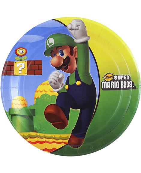 Super Mario Bros Dessert Plates 8 Ct