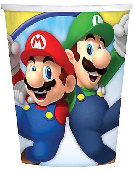Super Mario Amscan 9 oz Paper Cups