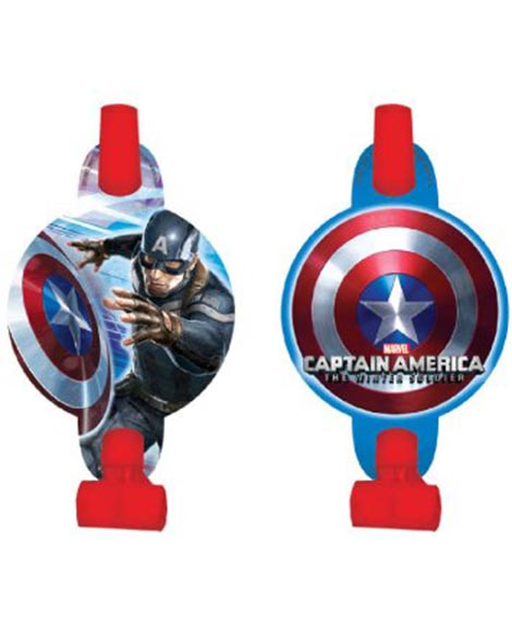 Captain America Winter Soldier Party Favor Blowouts