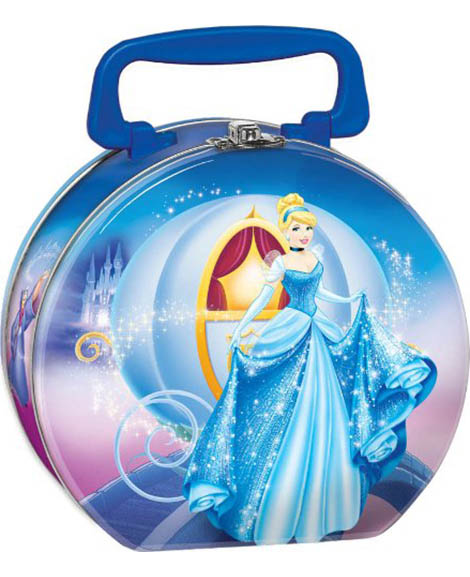 Cinderella Sparkle Metal Tin Box Carry All
