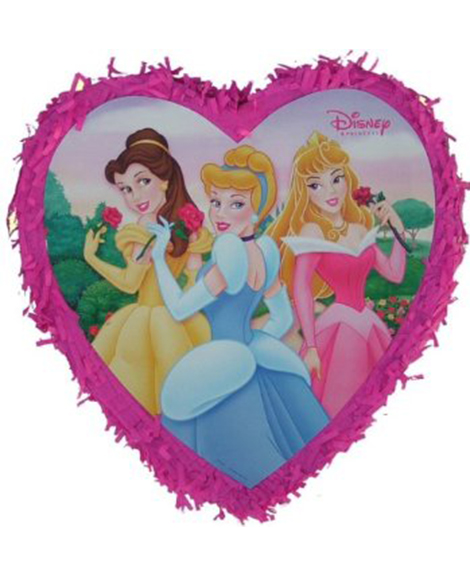 Disney Fairytale Princess Heart-Shaped Pop Out Pull String Party Piñata