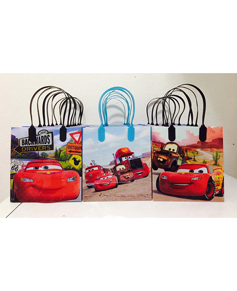 Disney Cars Plastic Gift Bags with Handles