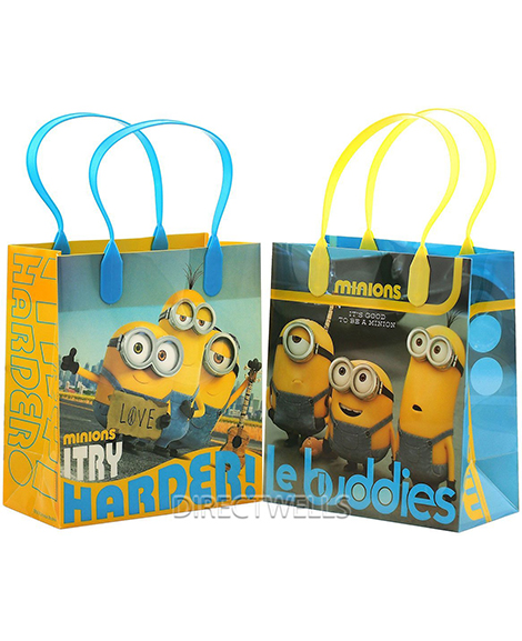 Despicable Me Minions Plastic Gift Bags with Handles