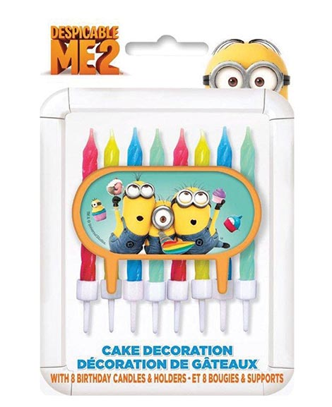 Despicable Me 2 Cake Decorating Candles 8 pc