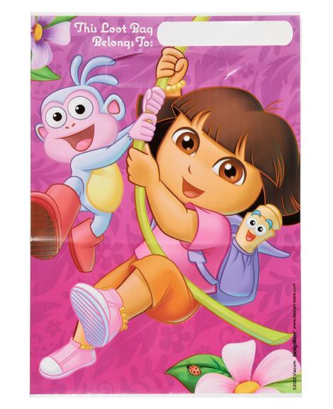 Dora Flower Adventure Party Favor Treat Bags