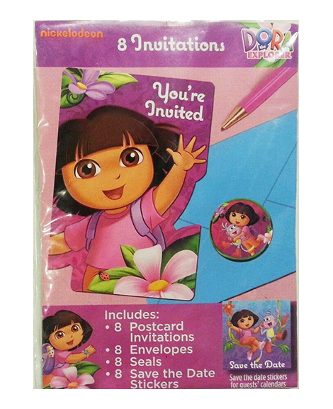 Dora Flower Adventure Save The Date Party Invitations