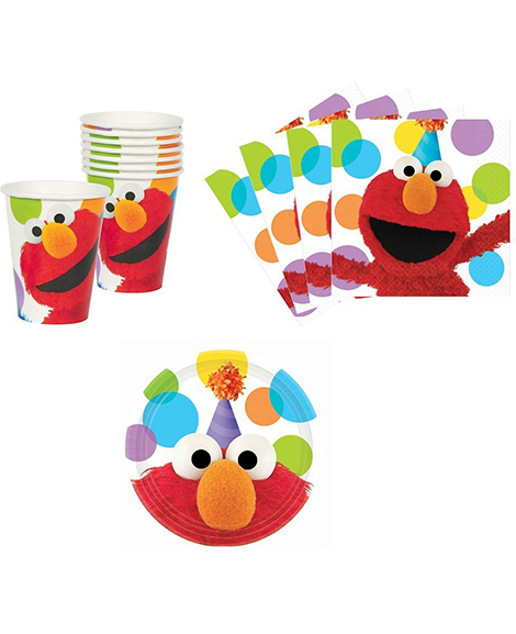 Elmo Sesame Street Party Package for 8 Guests