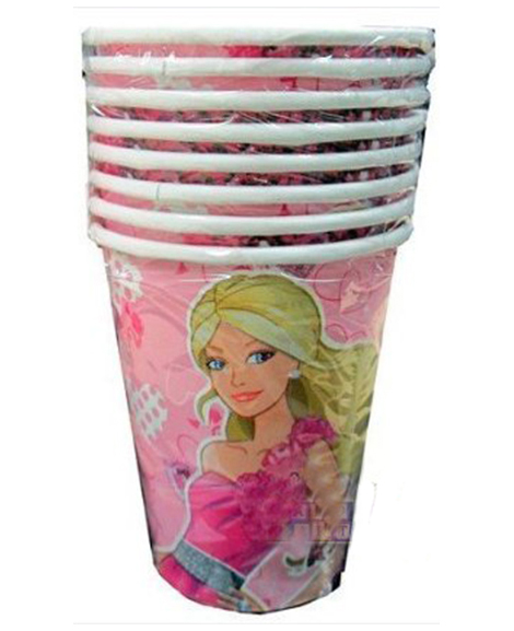 Barbie Fashionista 9 oz Paper Cups