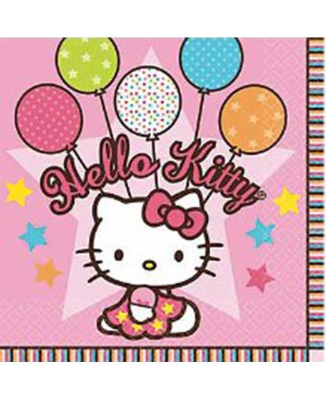 Hello Kitty Balloon Dreams Beverage Napkins