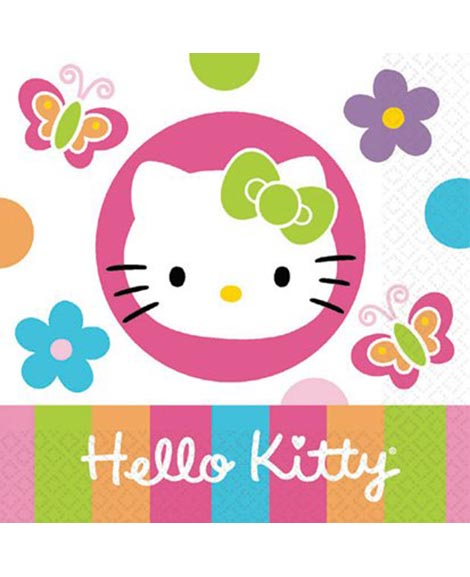 Hello Kitty Flower Beverage Napkins