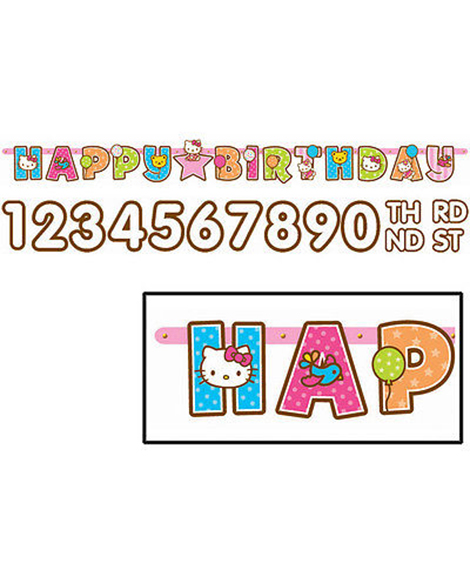 Hello Kitty Balloon Dreams Jumbo Add-An-Age Letter Banner