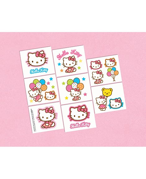Hello Kitty Balloon Dreams Party Favor Tattoos