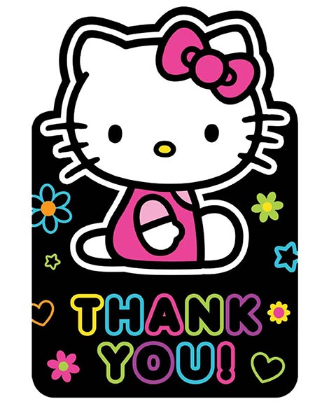 Hello Kitty Tween Party Thank You Cards