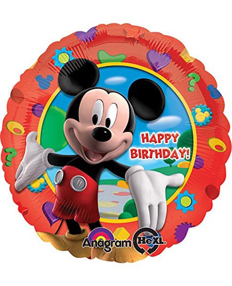 Mickey Mouse Happy Birthday 18 Inch Round Foil Mylar Balloon