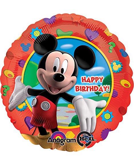 Mickey Mouse Happy Birthday 18 Inch Round Foil Mylar Balloon