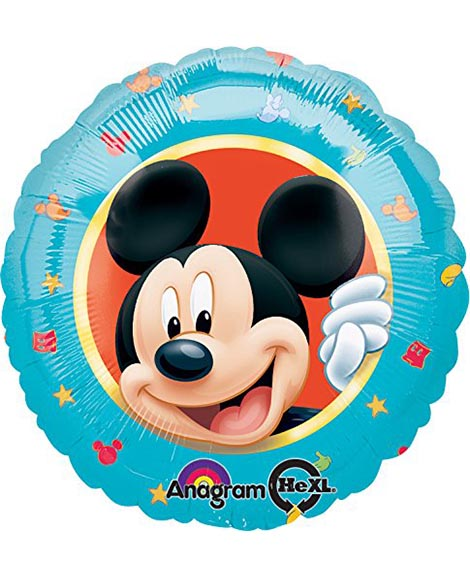 Mickey Mouse Portrait 18 Inch Round Foil Mylar Balloon