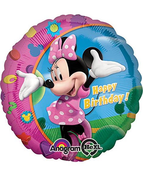 Minnie Mouse Clubhouse 18 Inch Round Foil Mylar Balloon