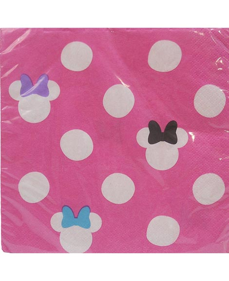 Minnie Pink Polka Dot Lunch Napkins 16 Ct