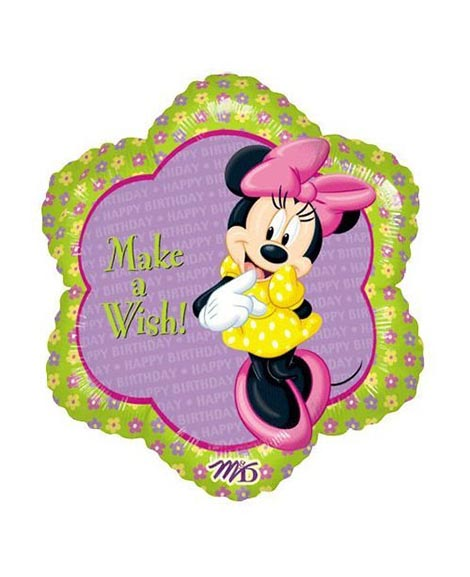 Minnie Mouse Make A Wish Round Foil Mylar Balloon
