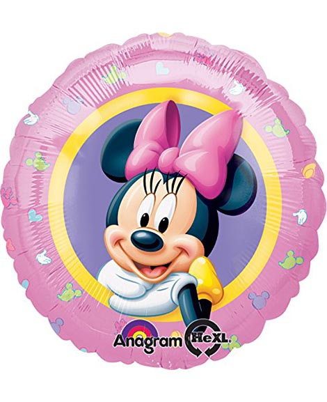 Minnie Mouse Portrait 18 Inch Round Foil Mylar Balloon