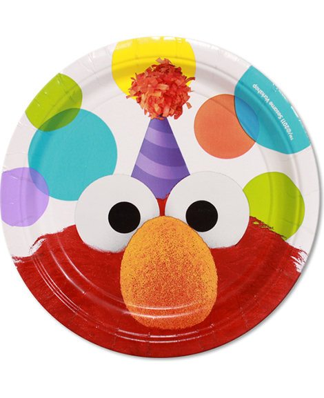 Elmo Party Sesame Street Dessert Plates