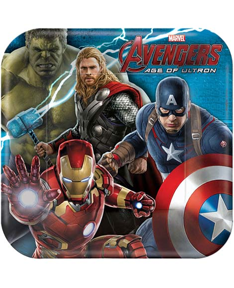 Avengers Age of Ultron Lunch Plates