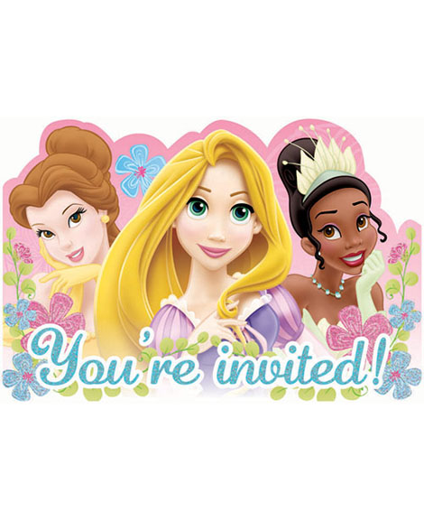 Disney Fanciful Princess Save The Date Party Invitations