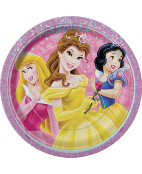 Disney Princess Glow Dessert Plates