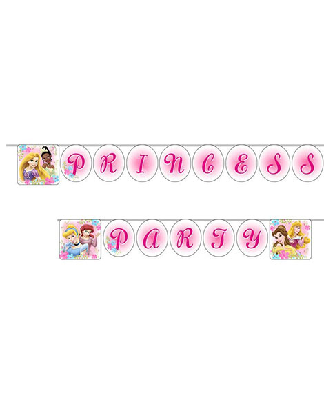 Disney Fanciful Princess Happy Birthday Jointed Banner