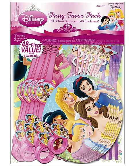 Disney Fanciful Princess Party Favor Package 48 Pieces
