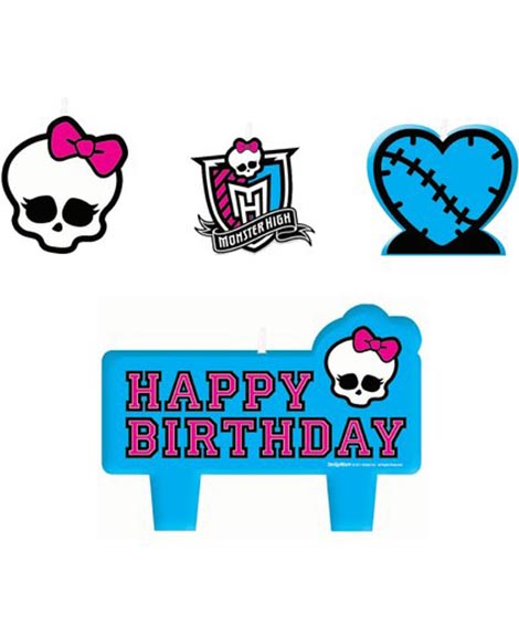 Monster High Cake Topper Candle 4 Piece Set
