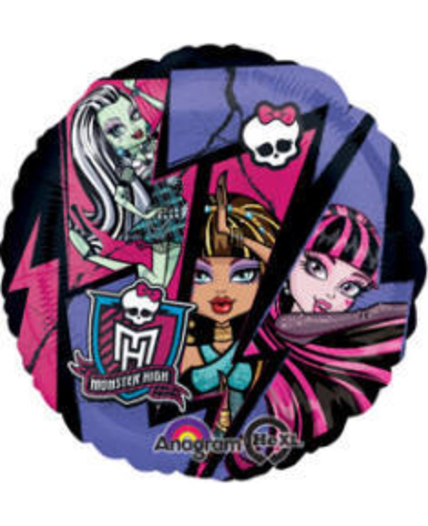 Monster High 18 Inch Round Foil Mylar Balloon