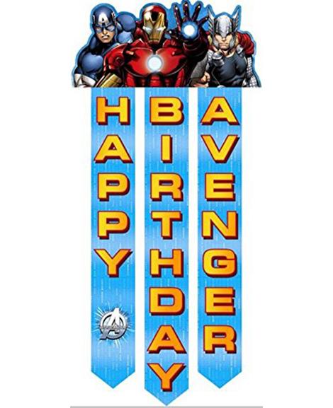 Avengers Assemble Hanging Birthday Banner