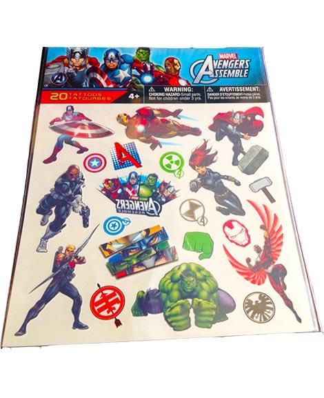 Avengers Assemble Marvel Party Favor Tattoos