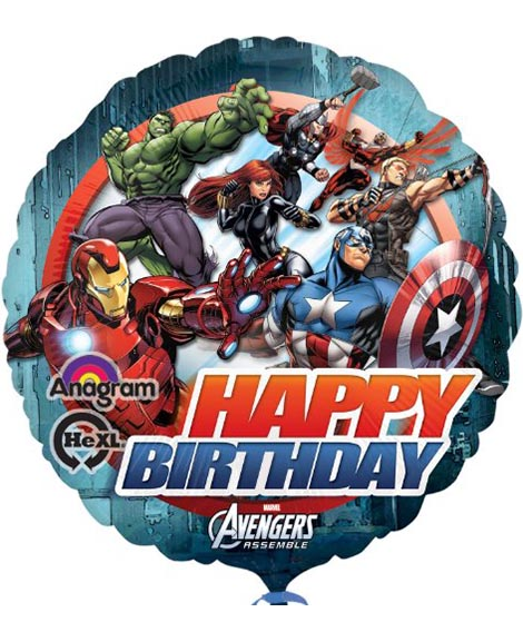 Avengers Assemble Marvel 18 Inch Round Foil Mylar Balloon