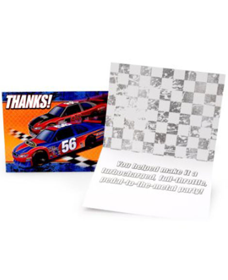 Nascar Full Throttle Party Thank You Cards