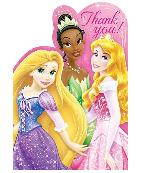 Disney Princess Sparkle and Shine Party Thank You Cards