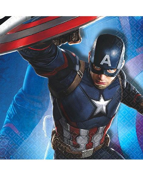 Captain America 3 Civil War Lunch Napkins