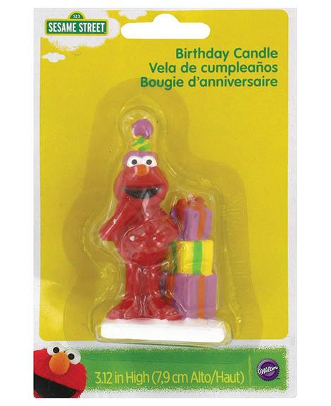 Elmo Figure 1st Birthday Molded Candle