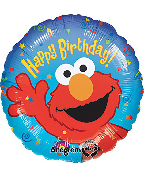 Elmo Happy Birthday 18 Inch Round Foil Mylar Balloon