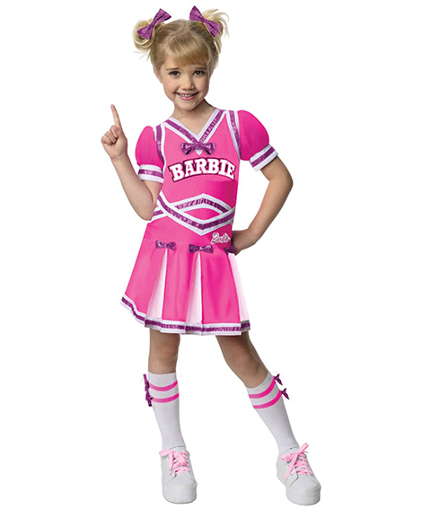 Barbie Cheerleader Halloween Costume Small 4-6