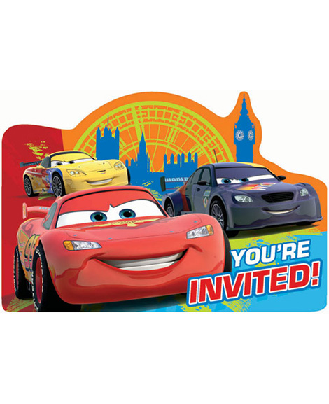 Disney Cars 2 Save The Date Party Invitations